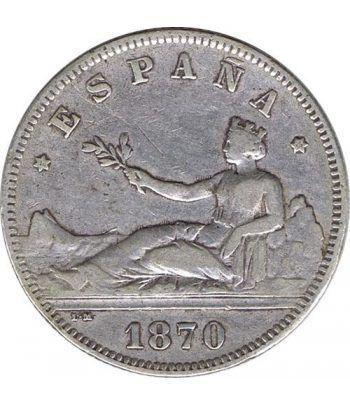 2 Pesetas Plata 1870 *75 Gobierno Provisional.  - 1