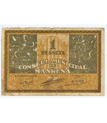(1937) 1 Pesseta Consell Municipal de Manresa  - 1