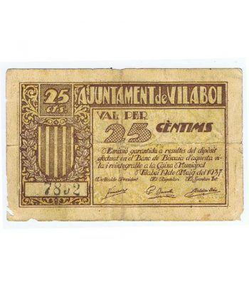 (1937/05/19) 25 centims Ajuntament de Vilaboi.  - 1