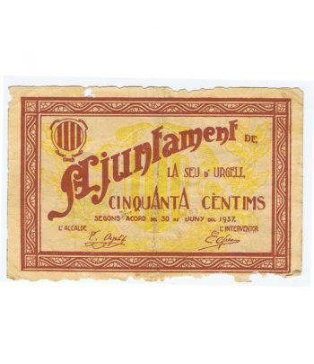 (1937/06/30) 50 centims Ajuntament de La Seu d' Urgell.  - 1