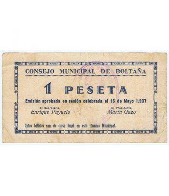 (1937/05/16) 1 Peseta Consejo Municipal de Boltaña.  - 1