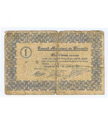 (1937/05/07) 1 Pesseta Consell Municipal de Gironella.  - 1