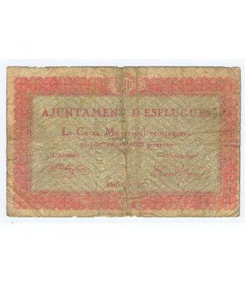 (1937) 1 Pesseta Ajuntament d'Esplugues.  - 1