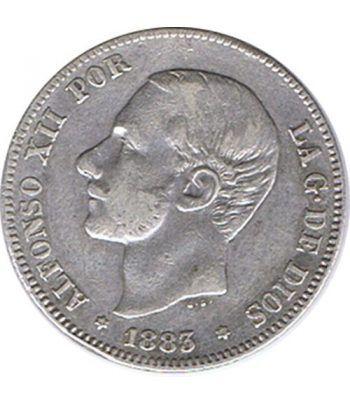 2 Pesetas Plata 1883 *83 Alfonso XII MS M.  - 1