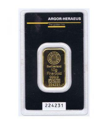 Lingote de oro 10 gramos Suiza.  - 1