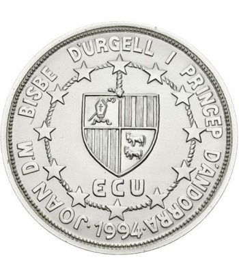 50 Diners de plata y oro Andorra 1993 Constitució.  - 2