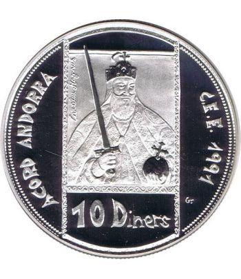 Moneda de Plata 10 Diners Andorra 1992. Estuche.  - 1