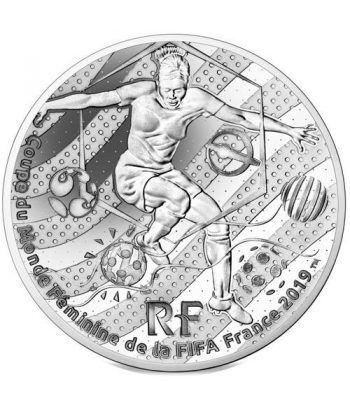 Francia 10€ 2019 FIFA Futbol Femenino. Regate. Plata.  - 1