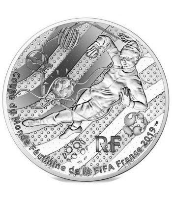 Francia 10€ 2019 FIFA Futbol Femenino. Portera. Plata.  - 1