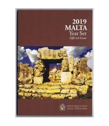 Cartera oficial euroset Malta 2019. Incluye 2€ conmemorativos  - 1