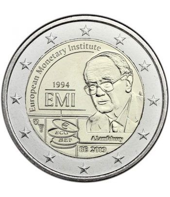moneda conmemorativa 2 euros Belgica 2019 EMI  - 2