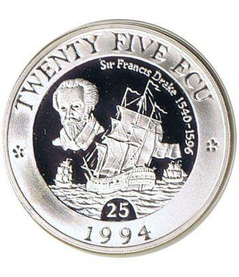 Moneda de plata 25 ECU Europa Gran Bretaña 1994.  - 4