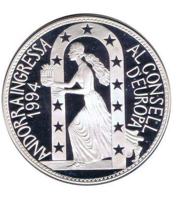 Moneda de plata 10 Diners Andorra 1995 Consell d'Europa.  - 2