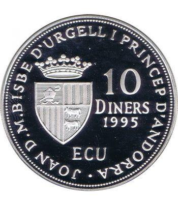 Moneda de plata 10 Diners Andorra 1995 Consell d'Europa.  - 4
