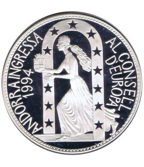 Moneda de plata 10 Diners Andorra 1995 Consell d'Europa.  - 1