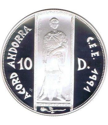 Moneda de Plata 10 Diners Andorra 1993. Estuche  - 1