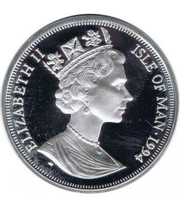 Moneda de plata 25 ecus Isla de Man 1994. Estuche  - 2