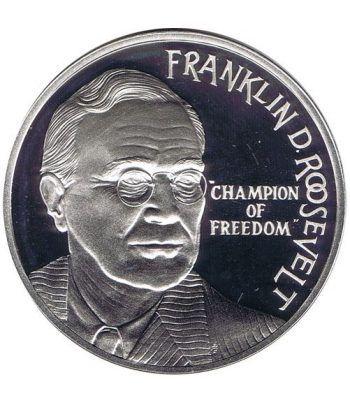 Moneda de plata 25 Ecu Holanda 1994 Roosevelt.  - 1