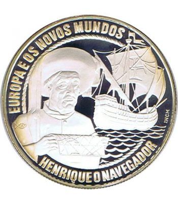 Moneda de plata 25 Ecu Portugal 1991. Barco Proof.  - 1