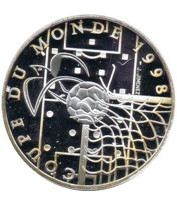 Moneda de plata 10 Francos Francia 1996. Mundial 98 Futbol ideal  - 1