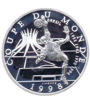 Moneda de plata 10 Francos Francia 1998. Mundial 98 Brasil  - 1