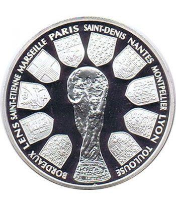Moneda de plata 10 Francos Francia 1998. Mundial 98 Copa Mundo  - 1