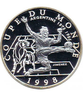 Moneda de plata 10 Francos Francia 1997. Mundial 98 Argentina  - 1