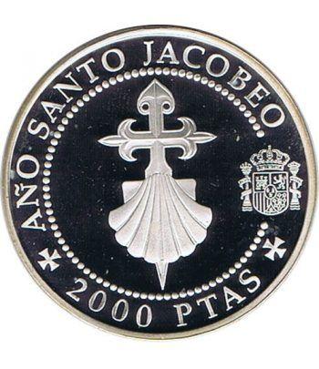 2000 Pesetas 1993 Jacobeo Cruz de Santiago y Venera. Proof.  - 1