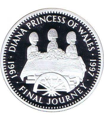 Moneda de plata 20 Dollars Liberia 1997 Princesa Diana.  - 1
