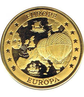 Moneda Ecu Europa Gran Bretaña 1994 Color. Avión.  - 4