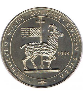 Moneda 5 Ecu Suecia 1994 Barco. Cuproníquel.  - 2