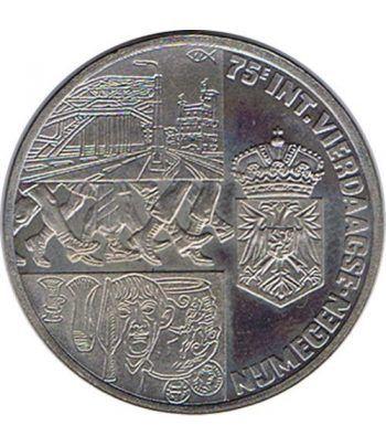 Moneda 2.5 ECU de Holanda 1991 Vierdaagse Nijmegen. Niquel.  - 1