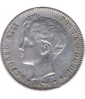 1 Peseta Plata 1899 *99 Alfonso XIII SG V.  - 1