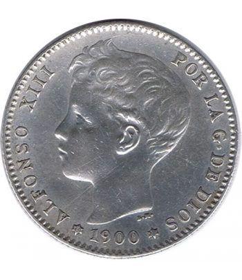 1 Peseta Plata 1900 *00 Alfonso XIII SM V. EBC  - 1