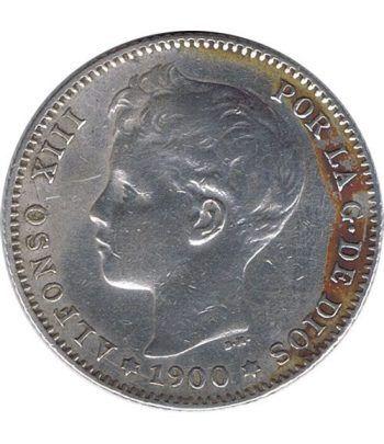1 Peseta Plata 1900 *00 Alfonso XIII SM V. EBC.  - 1