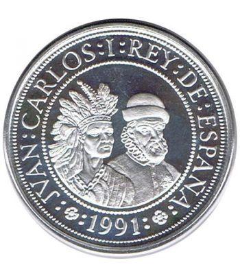 5000 Pesetas 1991 Vº Centenario. Pizarro y Atahualpa. Proof  - 1