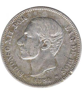 2 Pesetas Plata 1881 *81 Alfonso XII MS M.  - 1