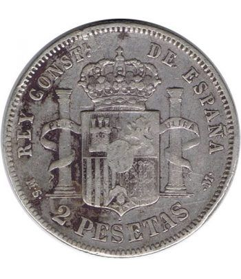 2 Pesetas Plata 1882 *82 Alfonso XII MS M.  - 4
