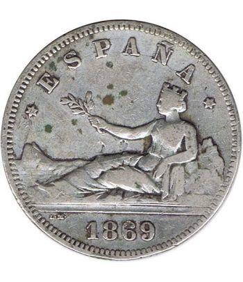 2 Pesetas Plata 1869 *69 Gobierno Provisional.  - 2