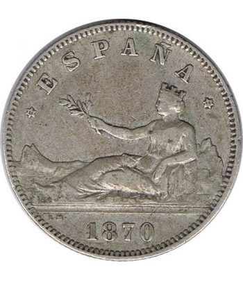 2 Pesetas Plata 1870 *74 Gobierno Provisional.  - 1