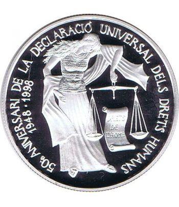 Moneda de plata 10 Diners Andorra 1998 Derechos Humanos.  - 1