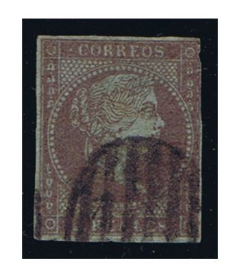 Sello de España nº042 Isabel II. 2 Reales Violeta. Matasellos  - 1