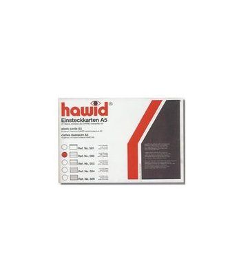 HAWID F. carton e. f. (210x148) Ficha negra 5 b. (10 u.) Fichas Clasificadoras - 2