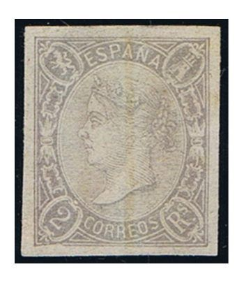 Sello de España nº073 Isabel II. 1 Real Lila. Usado  - 1