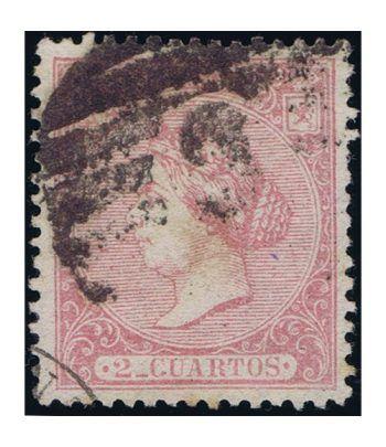 Sello de España nº080 Isabel II. 2 Cuartos Rosa. Matasellos  - 1