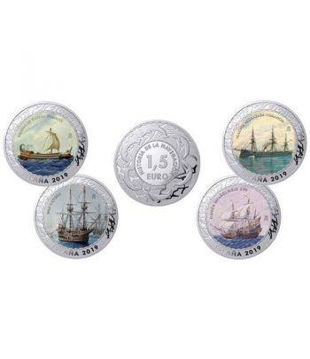 Monedas 2019 Historia de la Navegación IV. 4 monedas.  - 8