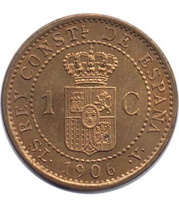 1 céntimo 1906 *06 Alfonso XIII Madrid SL V.  - 4
