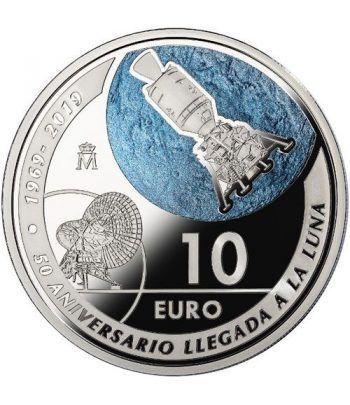 Moneda 2019 50 Aniversario Llegada a la Luna. 10 euros Plata  - 1