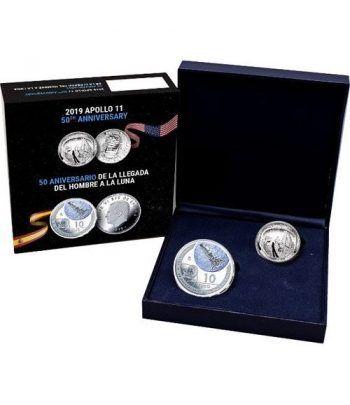 Monedas 2019 50 Aniversario Llegada a la Luna. España-USA  - 1