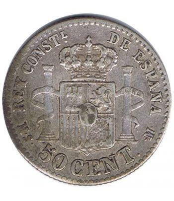 50 céntimos Plata 1881 *81 Alfonso XII MS M.  - 4